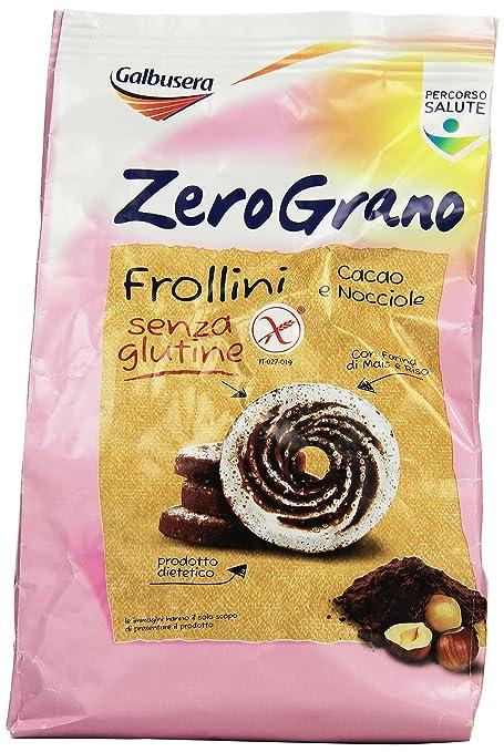 8 opinioni per Galbusera Zerograno Senza Glutine Frollino Cacao e Nocciole, 300Gr