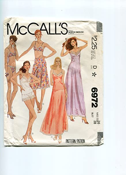 Vintage McCalls 6972 Slip, Camisole, Half-Slip, Bra, Panties and Bikini