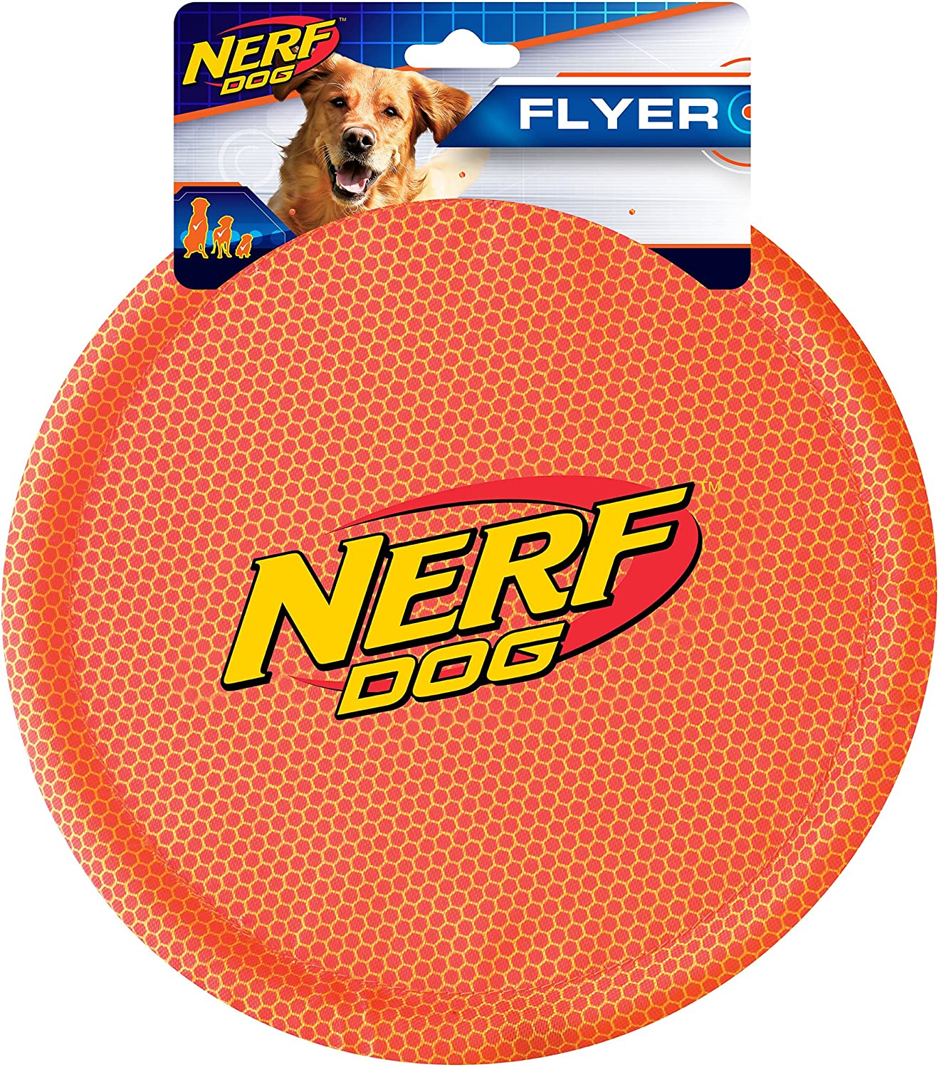 Nerf Dog Durable Nylon Dog Toys, made with Nerf Tough Material, Lightweight, Non-Toxic, BPA-Free, Assorted Toys