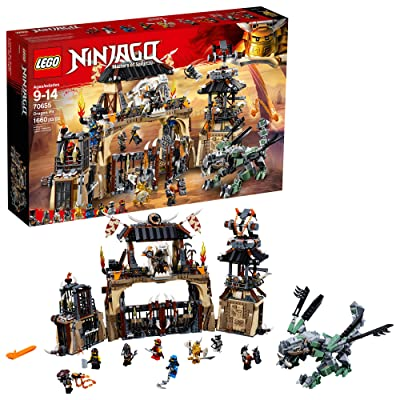 LEGO NINJAGO Masters of Spinjitzu: Dragon Pit 70655 Ninjago Toy Building Kit with Green Dragon Model, Ninja Action Battle Playset for Kids (1660 Pieces): Toys & Games