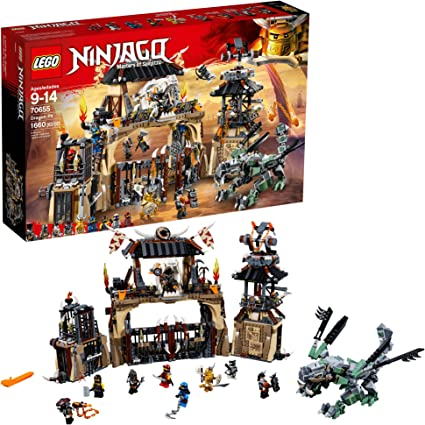 LEGO NINJAGO Masters of Spinjitzu: Dragon Pit 70655 Ninjago Toy Building Kit with Green Dragon Model, Ninja Action Battle Playset for Kids (1660 ...