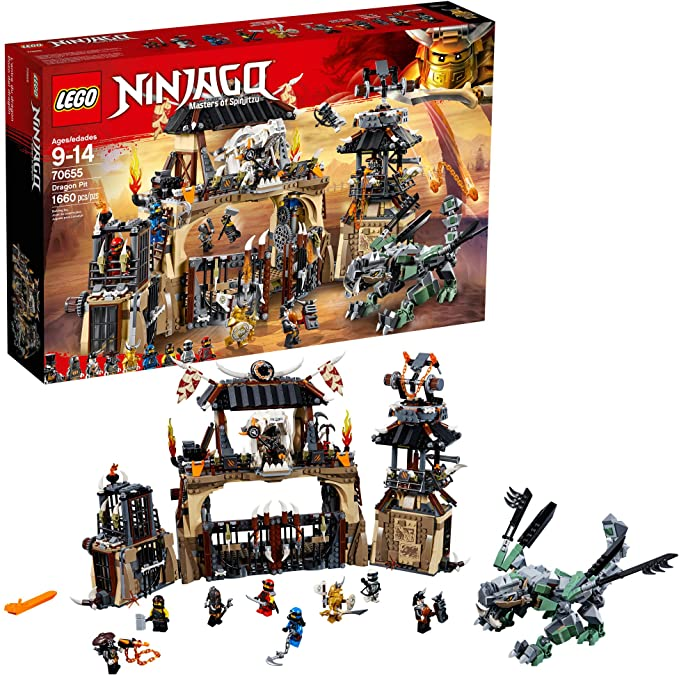 Amazon.com: LEGO Ninjago Masters of Spinjitzu: Dragon Pit ...
