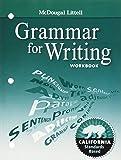 McDougal Littell Literature California: Grammar for Writing Workbook Grade 8