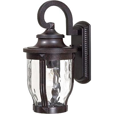 Minka Lavery Outdoor Wall Light 8762-166 Merrimack Aluminum Exterior Wall Lantern, 100 Watts, Bronze: Home Improvement