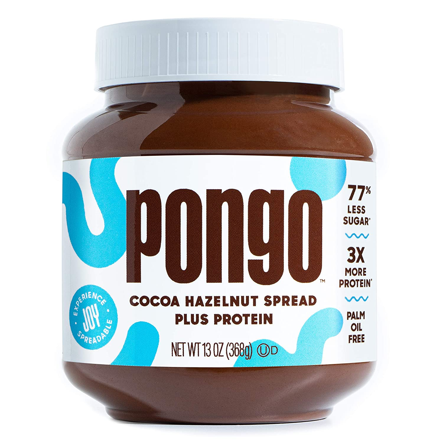 Pongo Cocoa Hazelnut Protein Spread - Low Sugar and Low Carb - Natural Flavor - Keto-Friendly Spread for Breakfast, Snacks & Desserts - No Palm Oil & Artificial Sweeteners - 13 oz