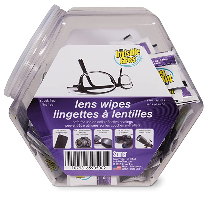 Amazon.com: Invisible Glass 90500 Lens Cleaning Wipe (150-Count Fishbowl): Automotive