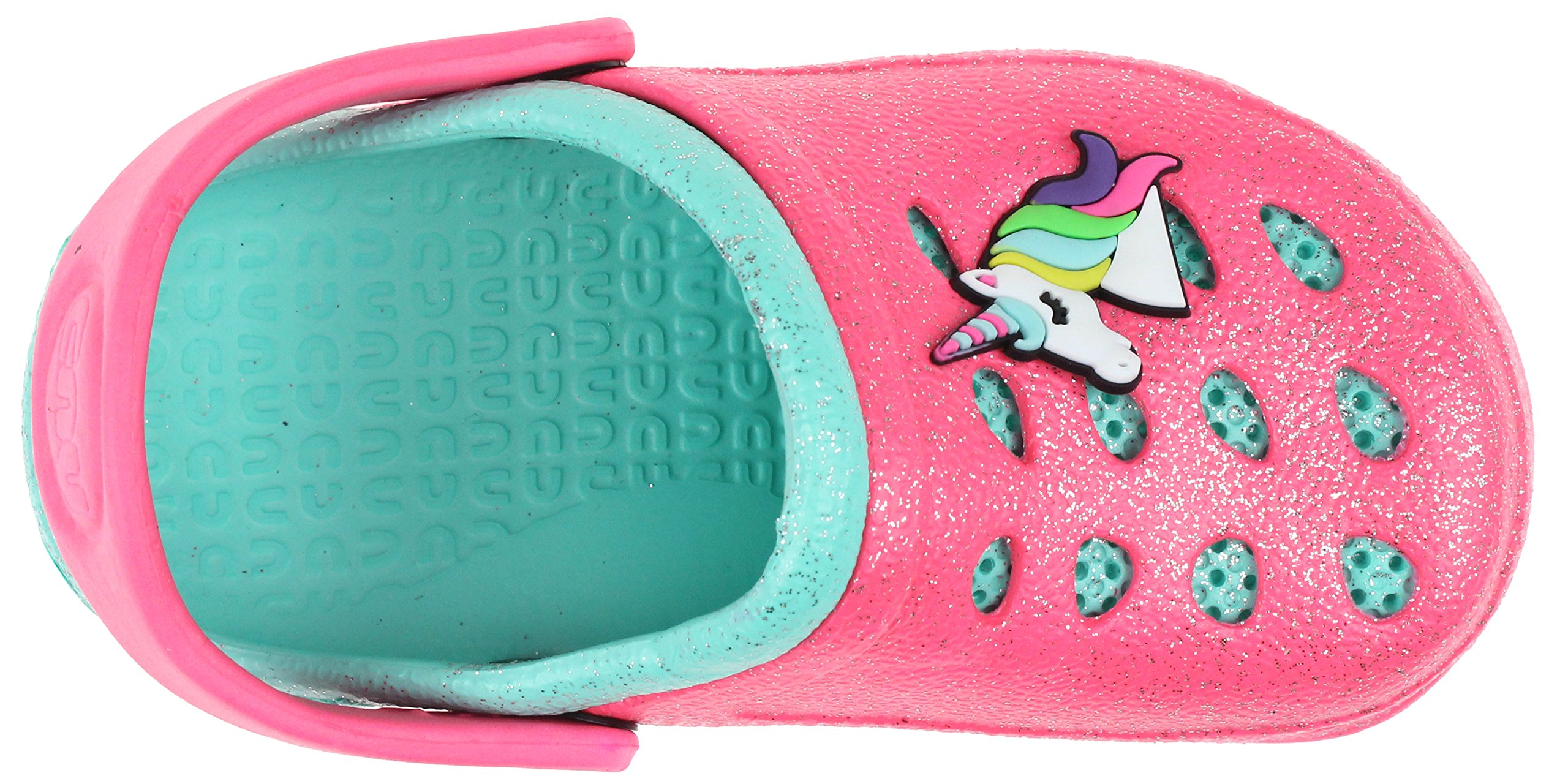 Capelli New York Toddler Girls Allover Glitter Clog with Unicorn Jelly Patch Pink 6/7 by Capelli New York (Image #3)