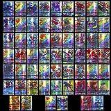 100 stycken tecknade spelkort för barn GX samlarkort innehåller set 60 V 40 Vmax kort för Pokemon (100 GX)