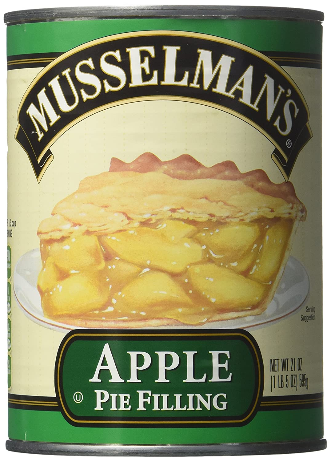 Musselman's Apple Pie Filling net wt 21OZ(pack of 2)