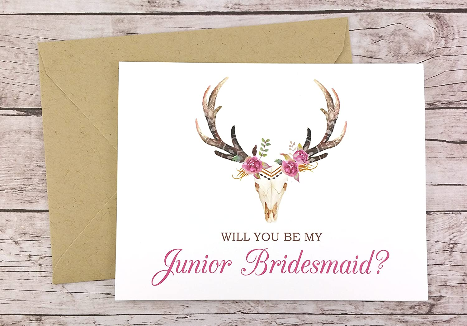 Will You Be My Junior Bridesmaid Card FPS0044 Bridesmaid Proposal Card