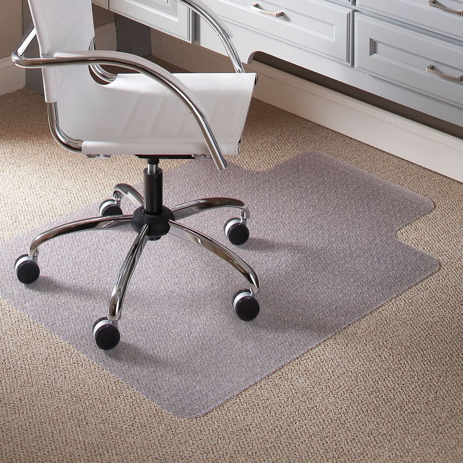 Practical PVC Transparent Mat Easy Glide for Chairs AOUTLE Chair Mat Floor Mats for Computer Desk Non Slip Anti Scratch Flat Without Curling