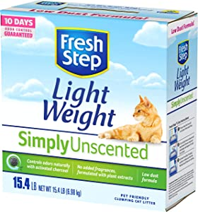 Fresh Step Simply Unscented Lightweight Clumping Cat Litter