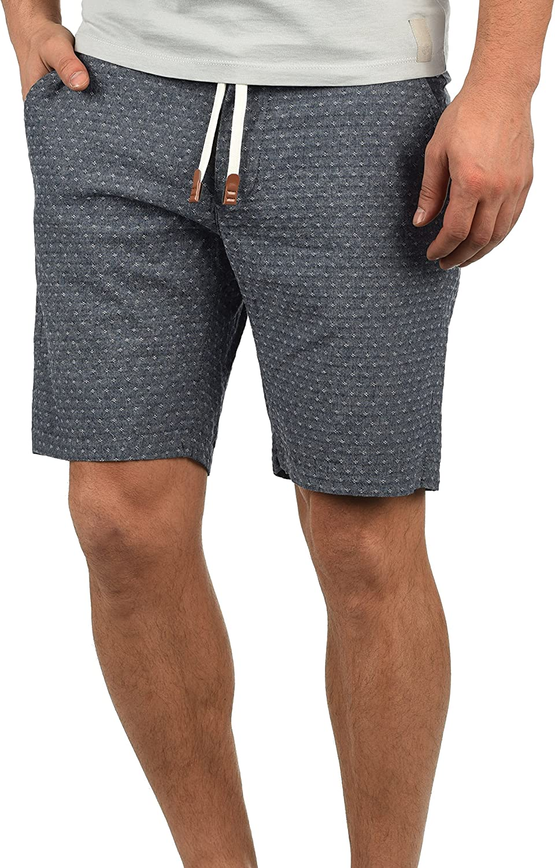 Blend Serge Chino Pantalón Corto Bermuda Pantalones De Tela para Hombre con Cinturón De 100% algodón Regular-Fit