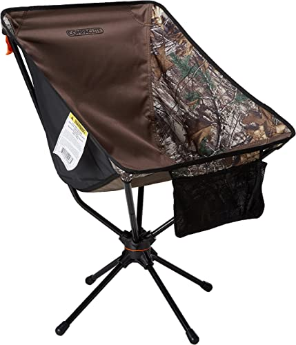 Compaclite Patented Deluxe 360 Swivel Steel Camping Portable Chair