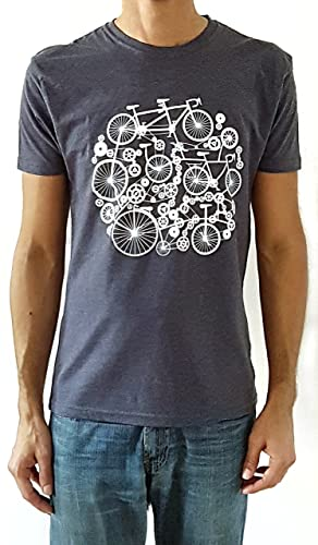 Camiseta de hombre Bicicletas - Color Azul Denim Heather ...
