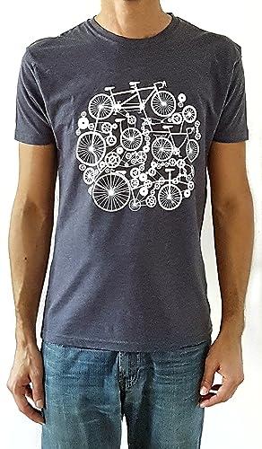 Camiseta de hombre Bicicletas - Color Azul Denim Heather ...