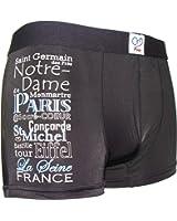 Souvenirs de France - Boxer Quartiers de Paris - Couleur : Noir