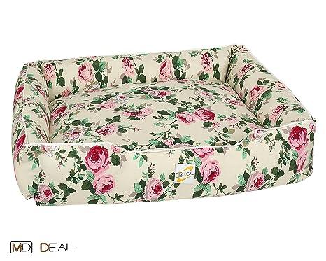 Juego de 5 perros cama con Rose Diseños rosas Vintage Perros cesta perros gatos gato cama
