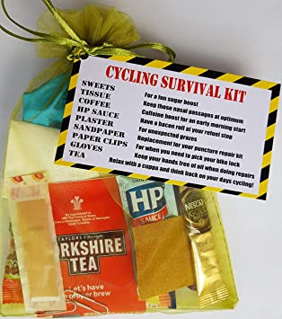 CYCLING SURVIVAL KIT - Birthday Present Unique Gift for those who love Cycling! Secret Santa