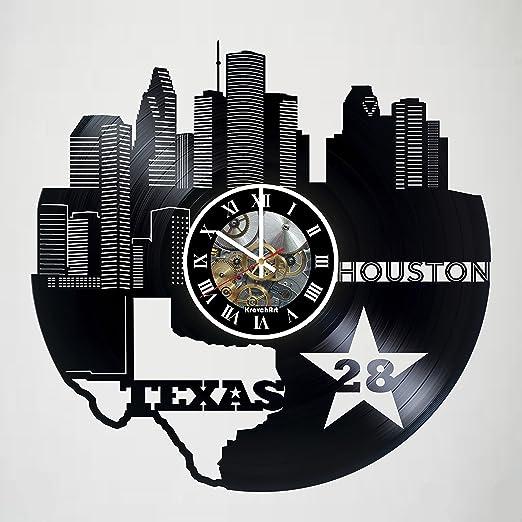 Houston Skyline Vinyl Record Art