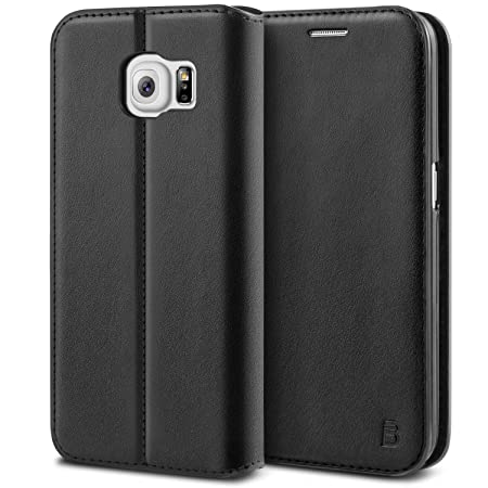 BEZ® Hülle für Samsung Galaxy S6 Hülle, Premium Handyhülle Kompatibel für Samsung Galaxy S6, Tasche Case Schutzhüllen aus Kla