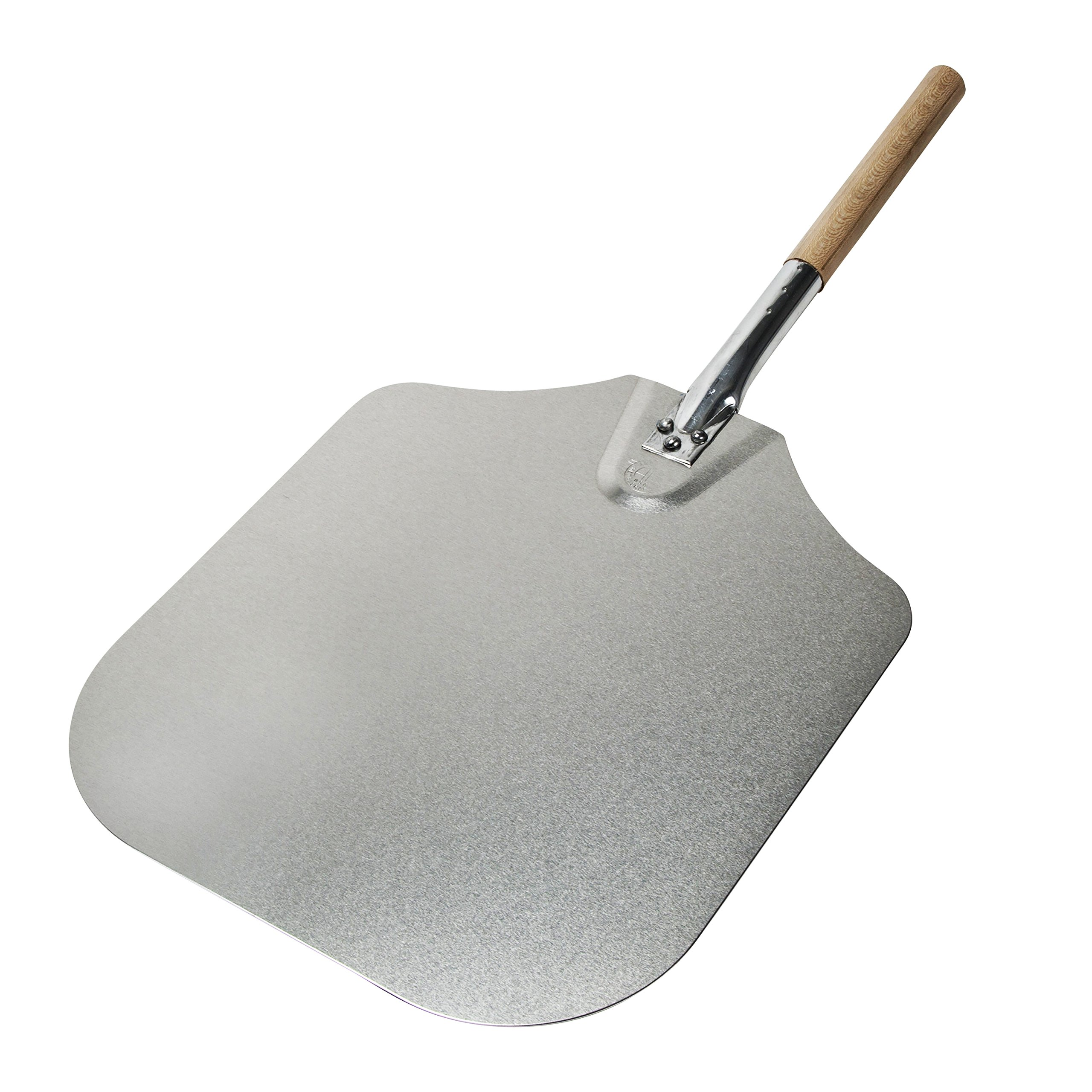 Kitchen Supply 14-Inch x 16-Inch Aluminum Pizza Peel with Wood Handle by Honey-Can-Do (Image #7)