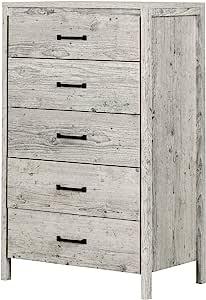 South Shore Gravity 5 Drawer Chest Seaside Pine Furniture Decor