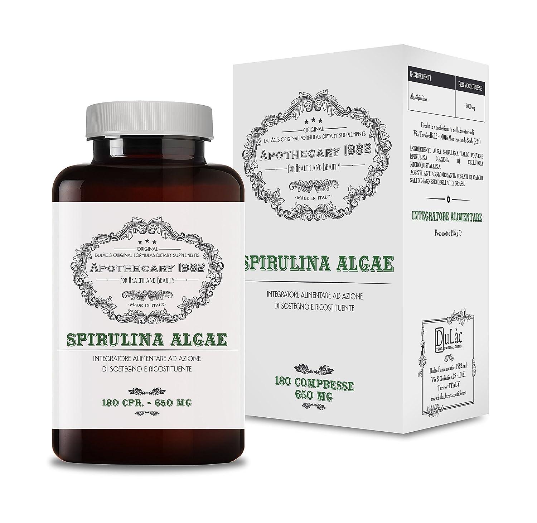 Amazon.com: Apothecary 1982 - Spirulina Algae - 180 Capsules - Tonic ...