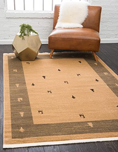 Unique Loom Fars Collection Tribal Modern Casual Tan Area Rug 10 6 x 16 5