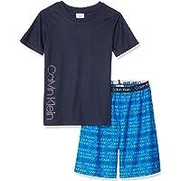ملابس نوم من قطعتين علوية وسفلية من كالفن كلاين بي جي للفتيان من مجموعة بيجامات
