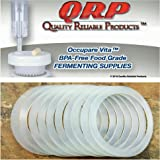 QRP SEALS for Mason Jars Reusable Food Grade Silicone STAY INSIDE the REGULAR or WIDE MOUTH Plastic Cap Lid (12 WIDE MOUTH)