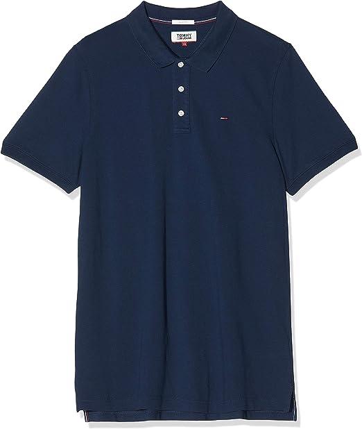 X-Large Uomo Blu Black Iris 002 Tommy Hilfiger Original Stretch Camicia