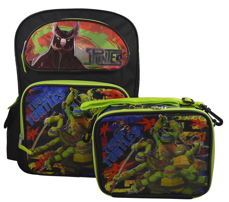 Teenage Mutant Ninja Turtles TMNT Deluxe Large Backpack & Matching Lunchbox Set
