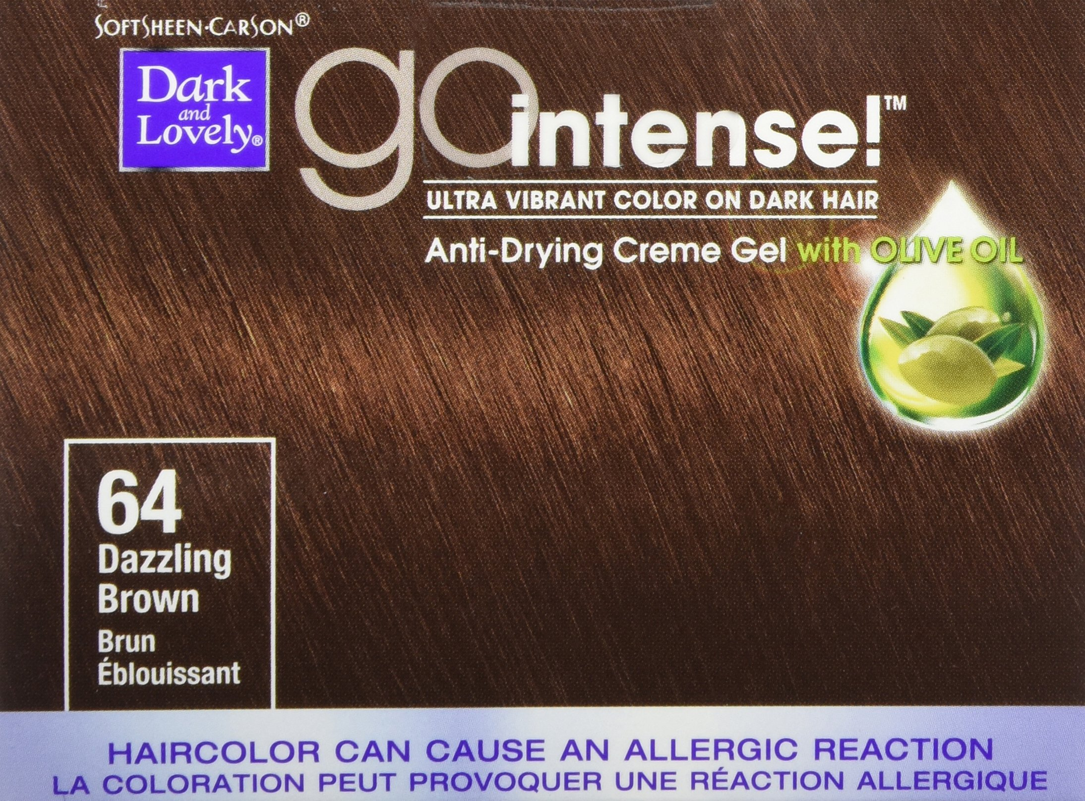 Softsheen Carson Dark and Lovely Go Intense Hair Color, Dazzling Brown