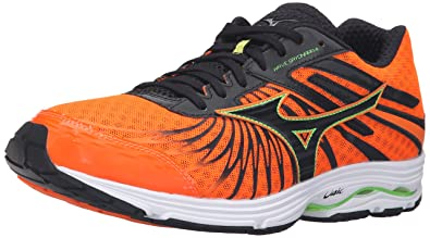 Mizuno Men's Wave Sayonara 4 Running Shoe, Clownfish/Black, ...