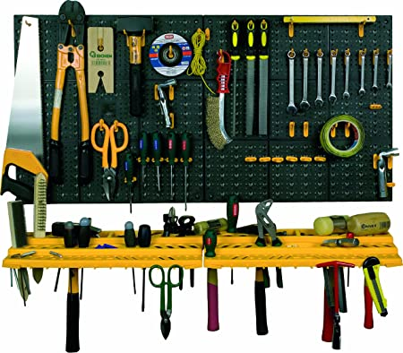 Bon Garage Wall Tool Rack Storage Kit Tools Organizer Home Shelves Including 50  Hooks