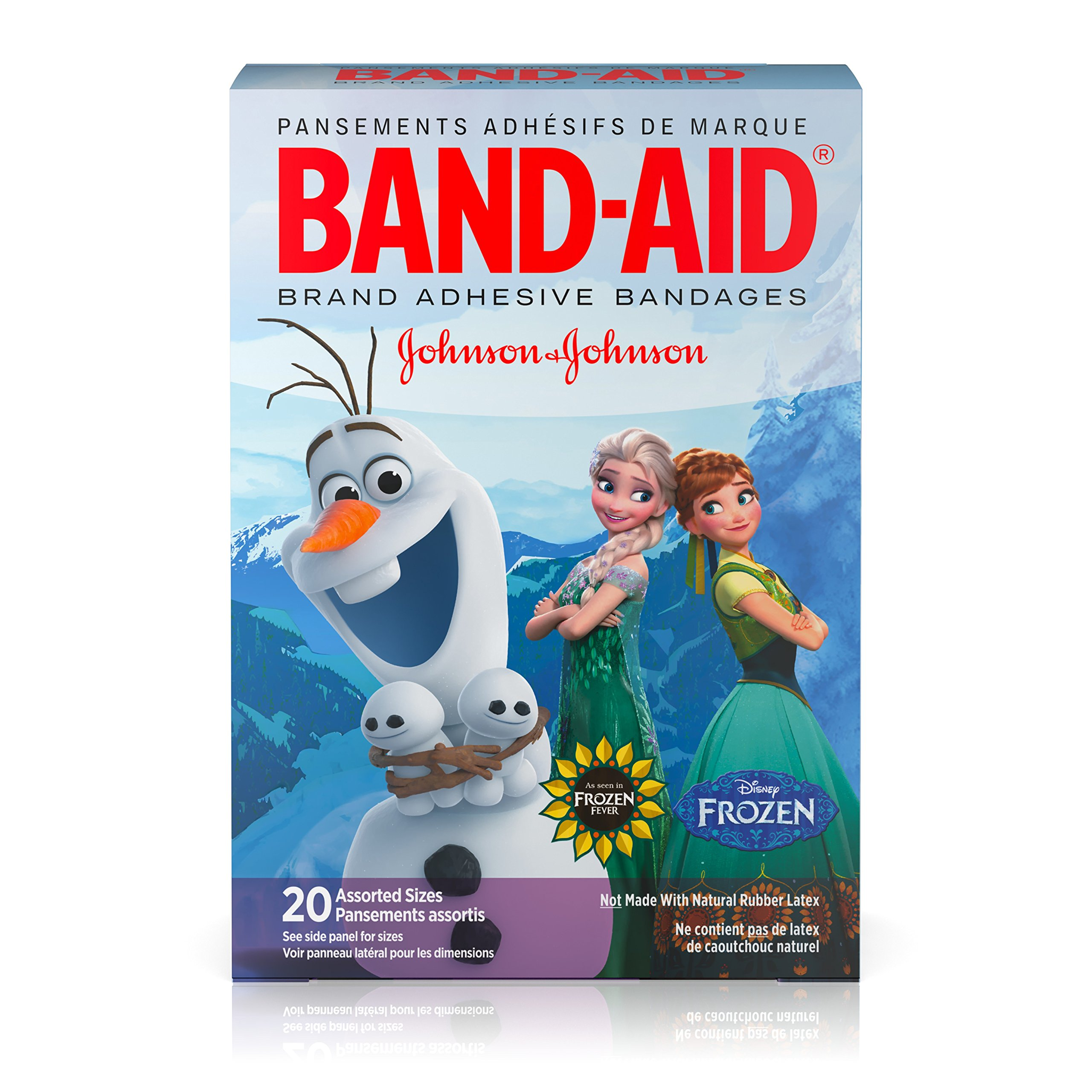 Band-Aid Brand Kids Disney Frozen Adhesive Bandages for Minor Cuts & Scrapes 20 Count Assorted Sizes, Pack of 6