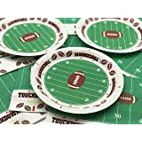 Football TouchDown 9 Inches Dinner Plates Party Accessory 60 Piece Pack