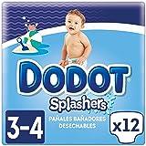 Dodot Splashers - 4 Paquetes de 12 Pañales Bañadores Desechables, 6-11 kg,