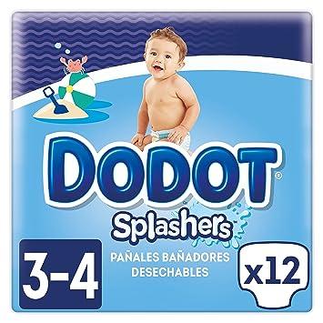 Dodot Splashers - 4 Paquetes de 12 Pañales Bañadores Desechables, 6-11 kg, No Se Hinchan Y Fácil de quitar, Talla 3: Amazon.es: Salud y cuidado personal