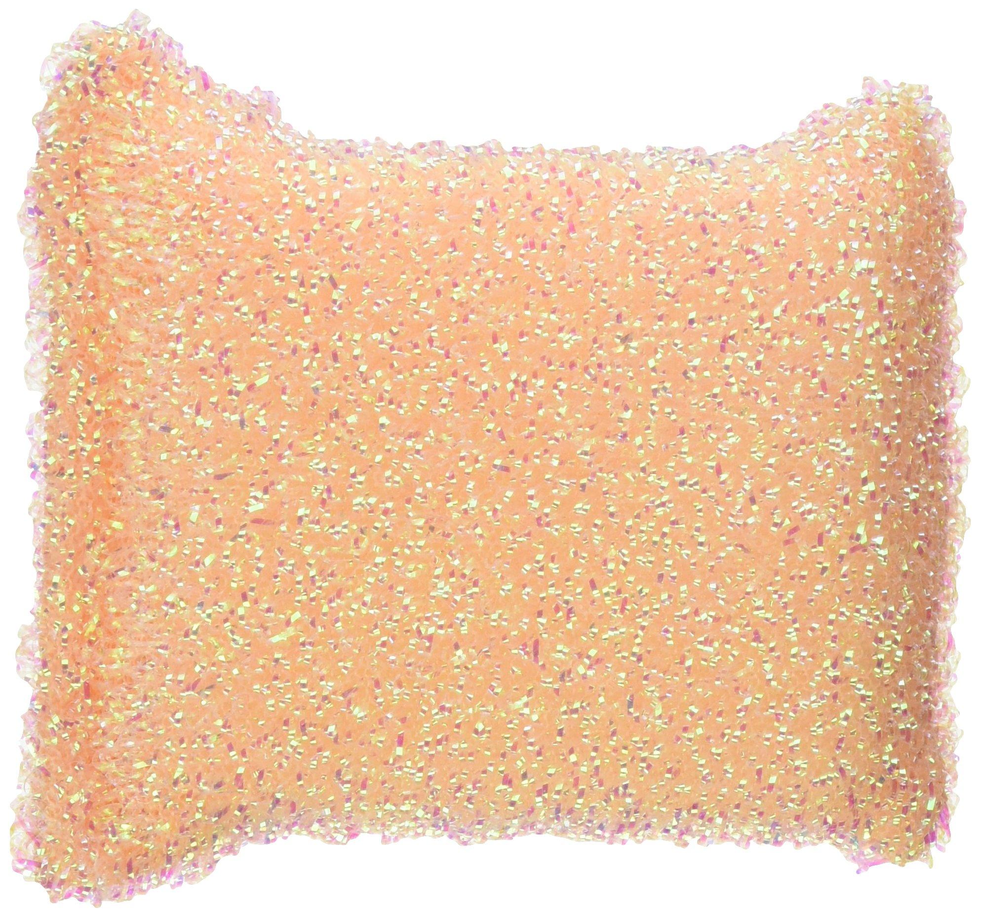 Casabella Sparkle Scrub Sponge, 2-Pack, Colors vary between Plum, Lime and Orange