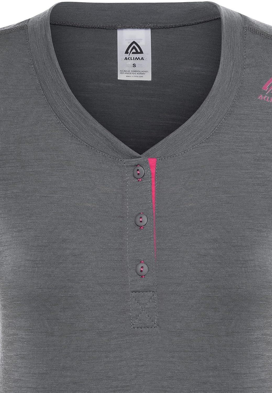 Aclima Lightwool Henley damen Iron Gate Raspberry Raspberry Raspberry 2018 Kurzarmshirt B072JXGNPC Bekleidung Qualität und Quantität garantiert 85caaa