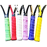 Alien Pros X-Dry Tennis Overgrip Tape Perfect for Your Tennis Racket, Racquetball Grip, Squash Racquet and More. 6-pack