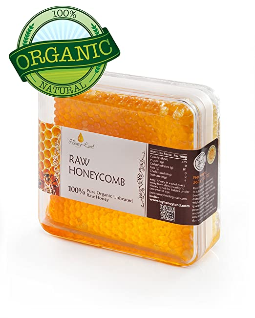 Honey Land 100% Pure Raw Organic Unfiltered Honey Comb