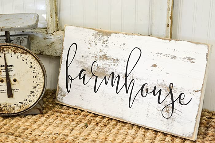 Amazon Rustic Home Wood Sign Distressed Whitewash Farmhouse Rhamazon: Rustic Wooden Signs For Home Decor At Home Improvement Advice