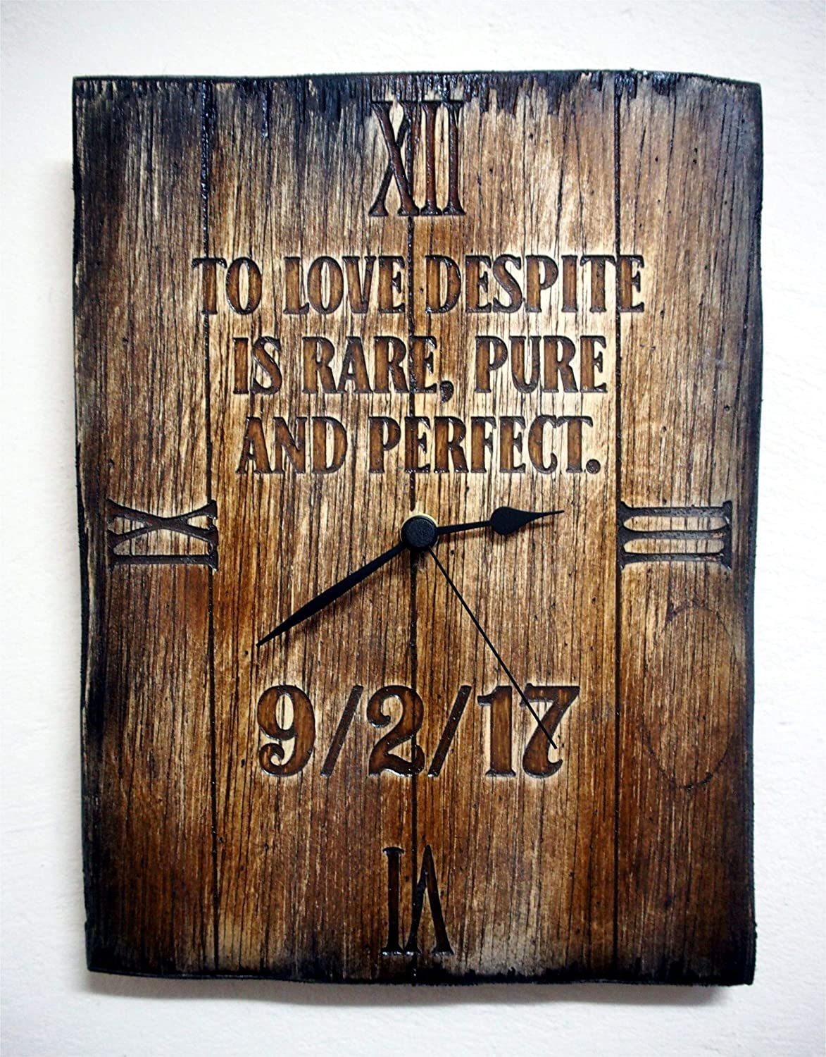 Personalized Rustic Wall Clock | Your engraved message on a distressed wood, wall clock | Vintage decor | Birthday gift | Housewarming gift