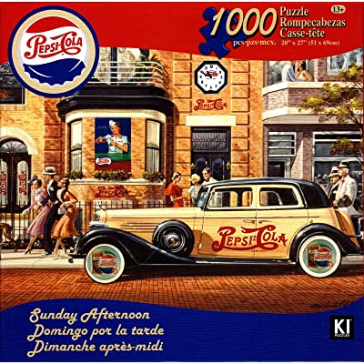 Pepsi-Cola Vintage 1000 Piece Jigsaw Puzzle Sunday Afternoon: Toys & Games