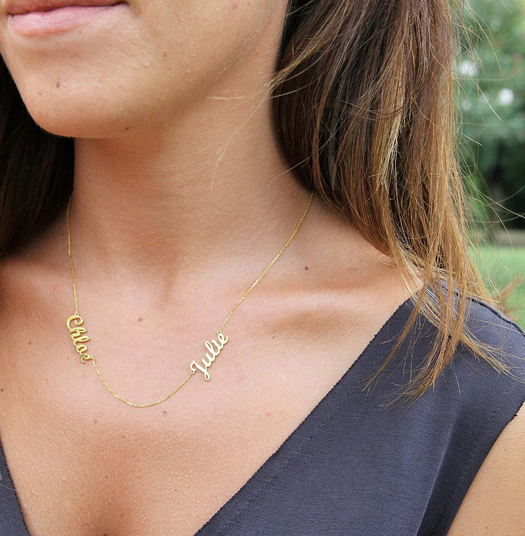 Customized Gift \u2022 Heart Name Necklace \u2022 Custom Name Necklace \u2022  Name Necklace \u2022 Gift For Women \u2022 Birthday Gift \u2022 Personalized Gift