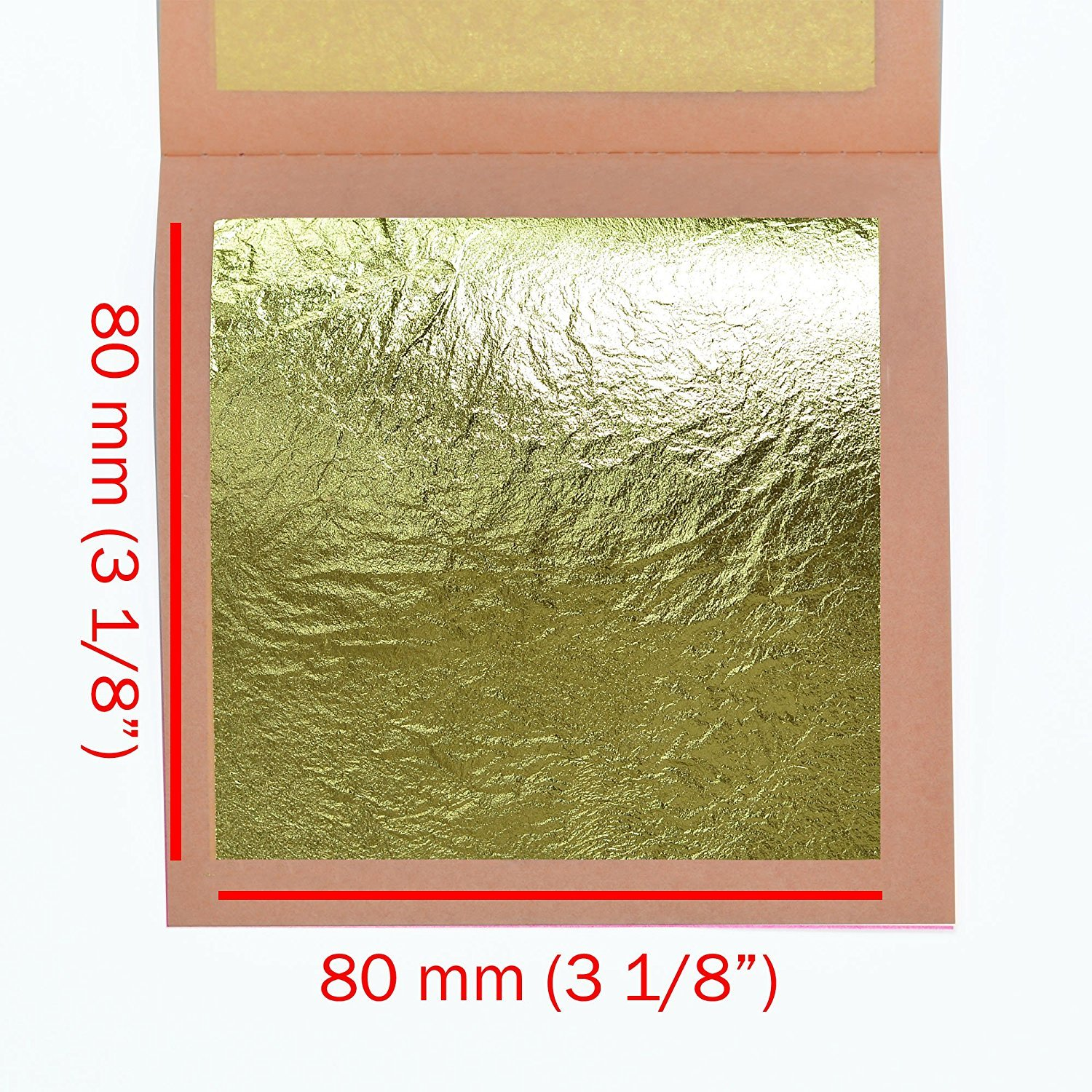 Genuine Gold Leaf Sheets 22k by Barnabas Blattgold Transfer Patent Leaf 3.4 inches 25 Sheets Booklet