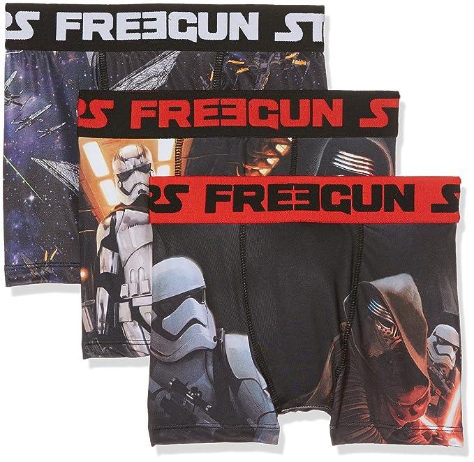 Star Wars Freegun, Bóxer para Niños, A7, 8 años(Pack de 3